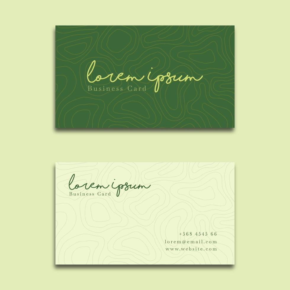 Elegant Business Card Contour Style vector