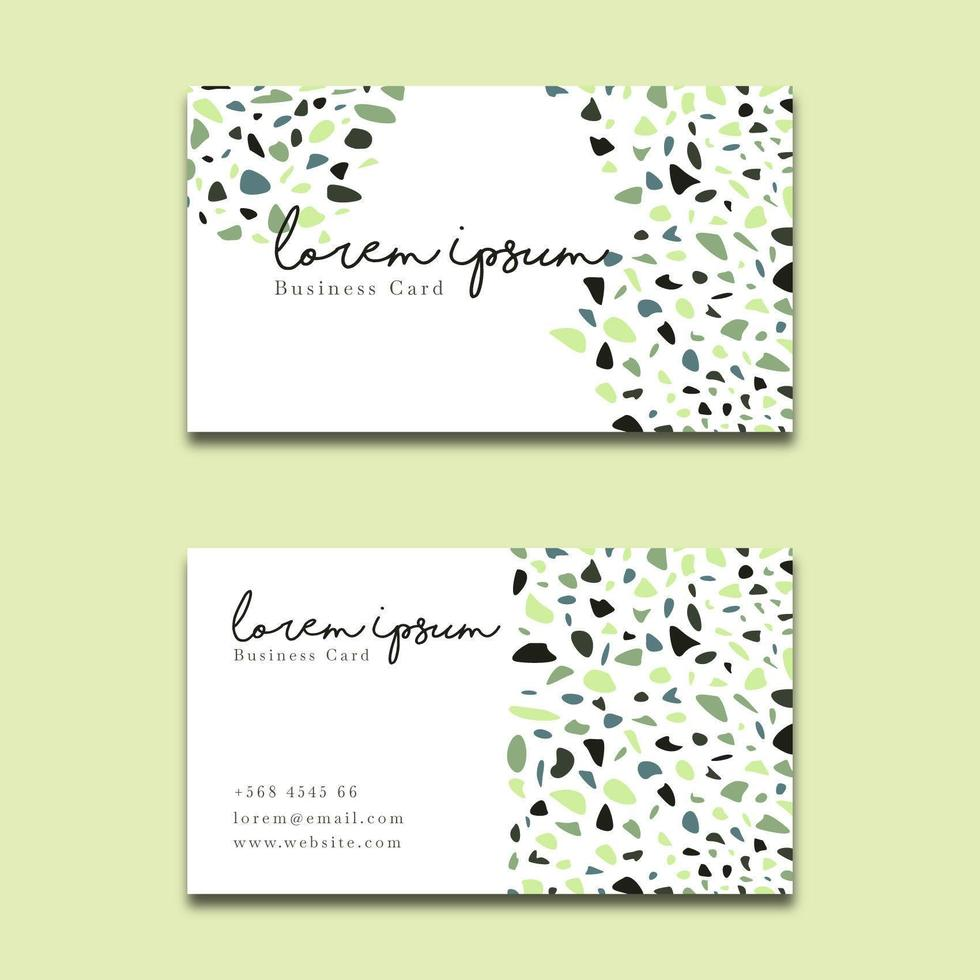 Elegant Business Card Terrazzo Style vector