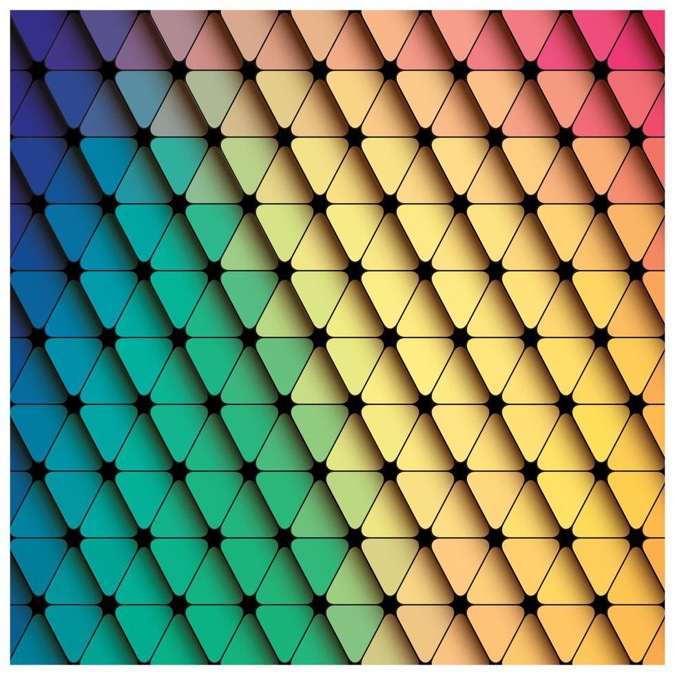 Bunter Hintergrund des geometrischen Dreiecks vektor