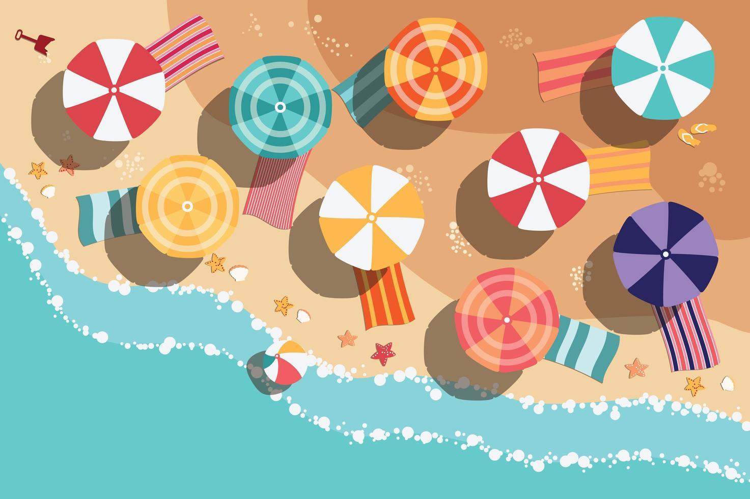 Design plat de plage d'été vecteur