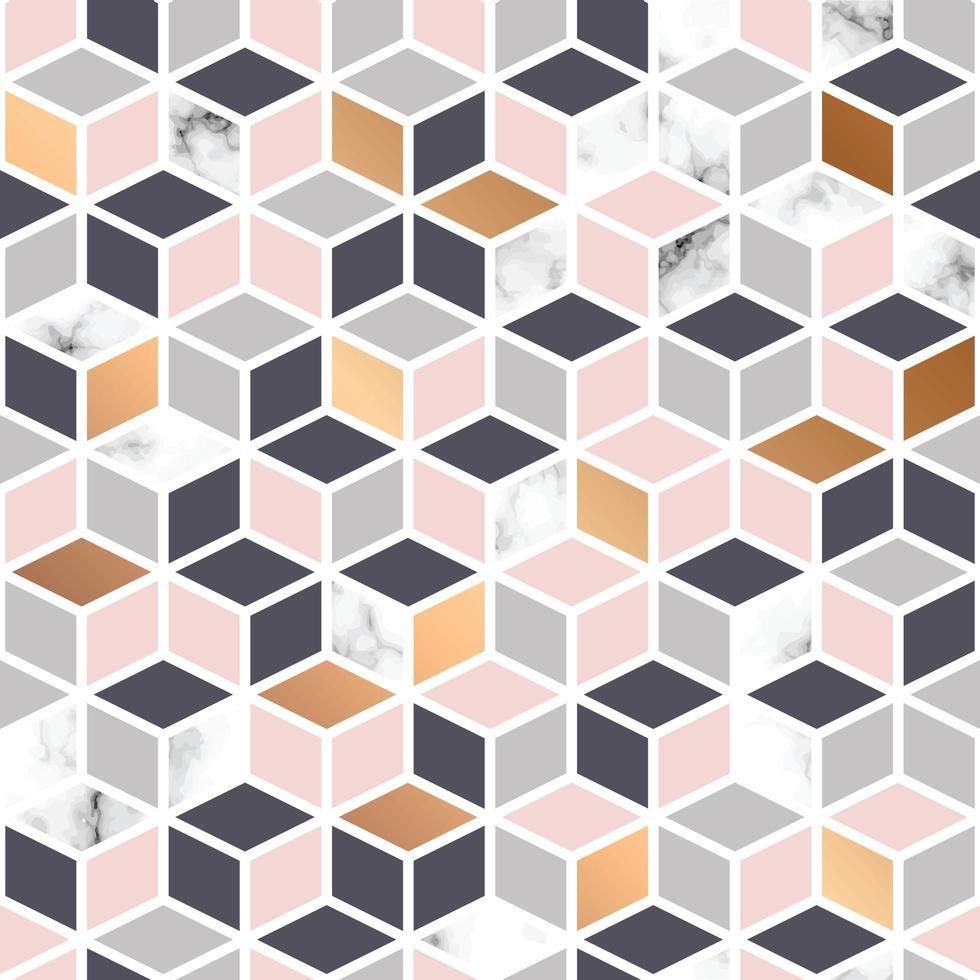 Textura de mármol rosa y oro, patrones sin fisuras vector