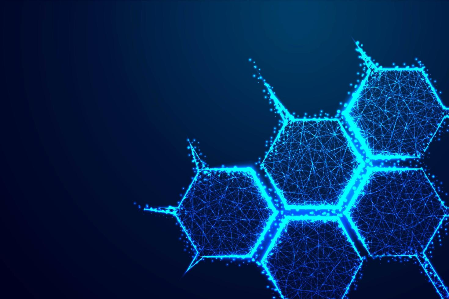 Molecule Structure Formed with Lines and Triangles vector