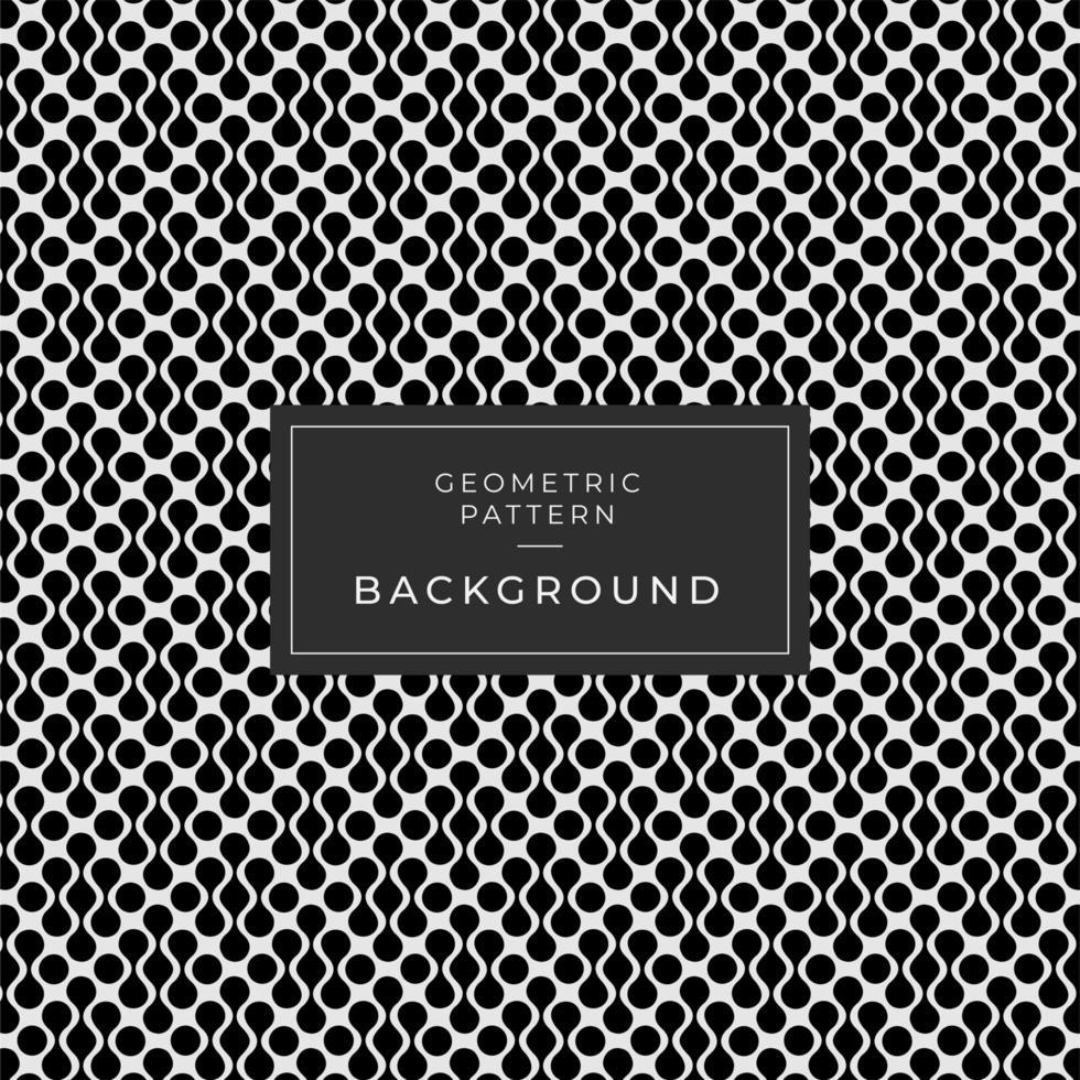 Fondo de formas en bucle blanco y negro abstracto vector
