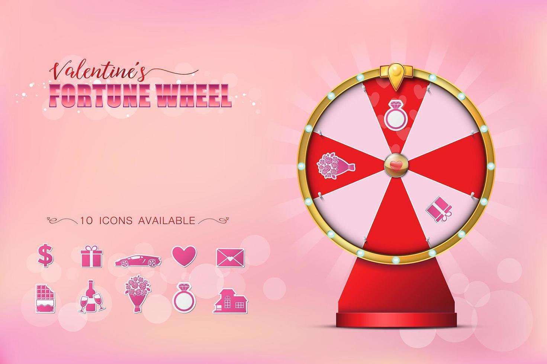 Valentine Spinning Fortune Wheel vector