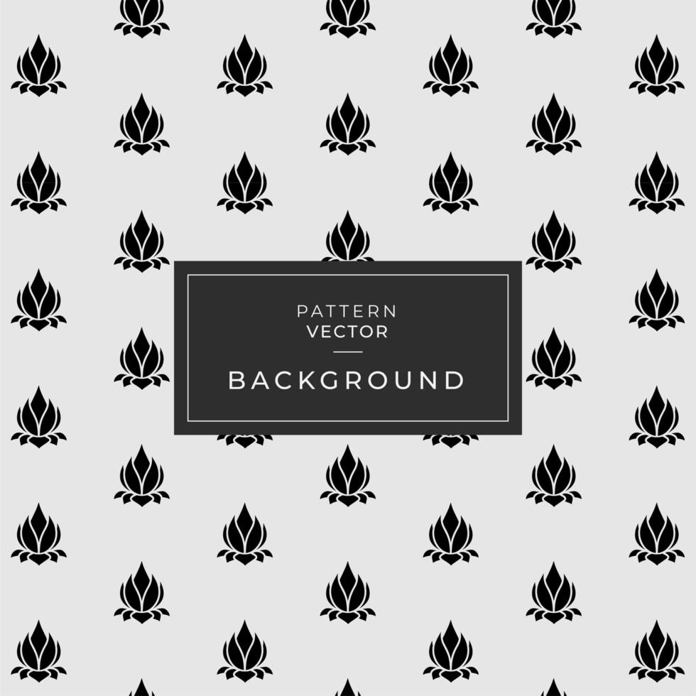 Black Marble Design with Lotus Floral Pattern vector