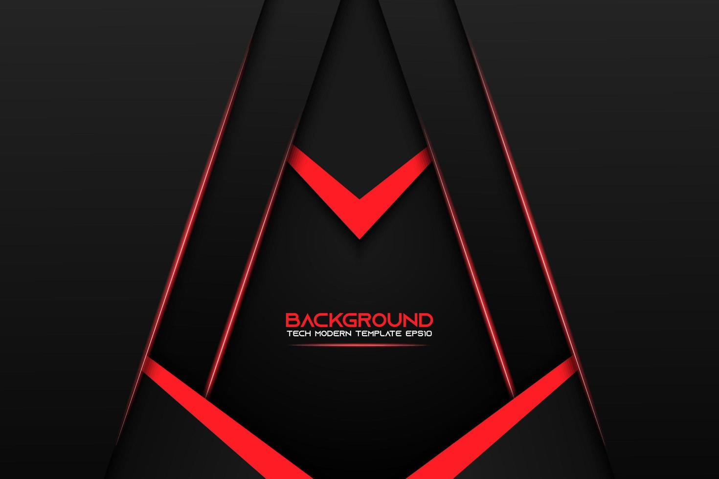 Black Layered Angle Background with Red Details