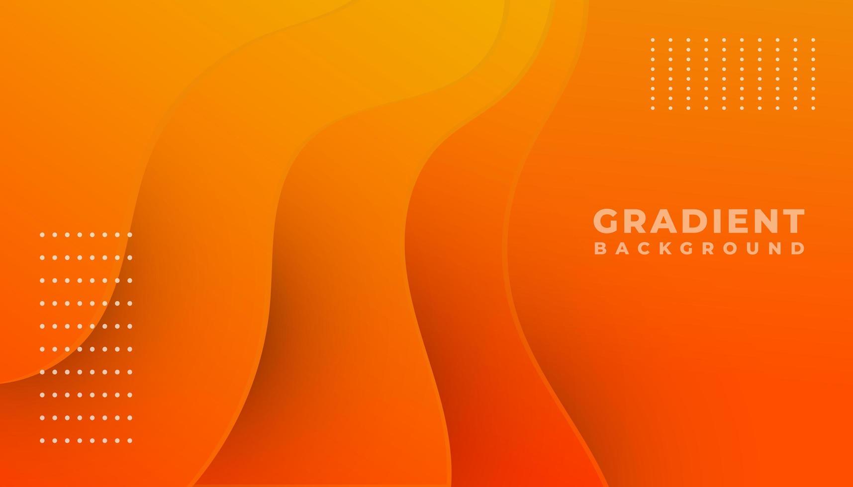 Orange Gradient Waves Background