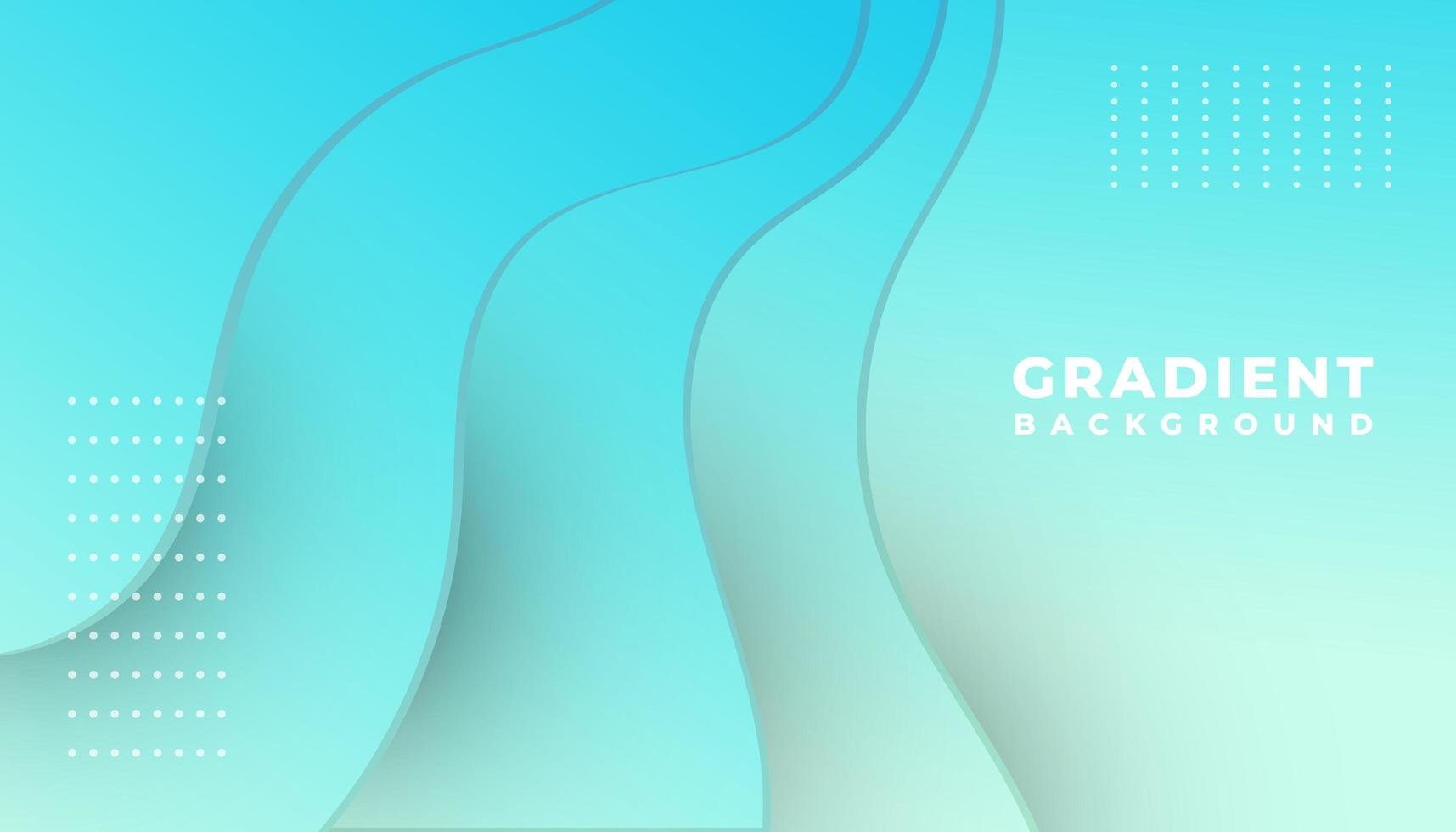 Blue Gradient Overlapping Waves Background