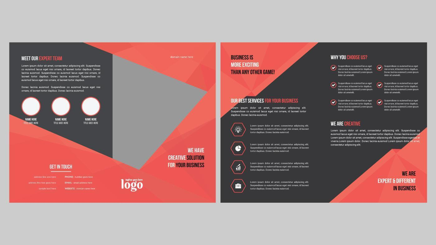 Angled Geometric Brochure Design for Professional Use vector