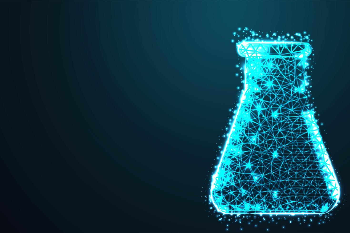 Medical Beaker Abstract Blue Design vector