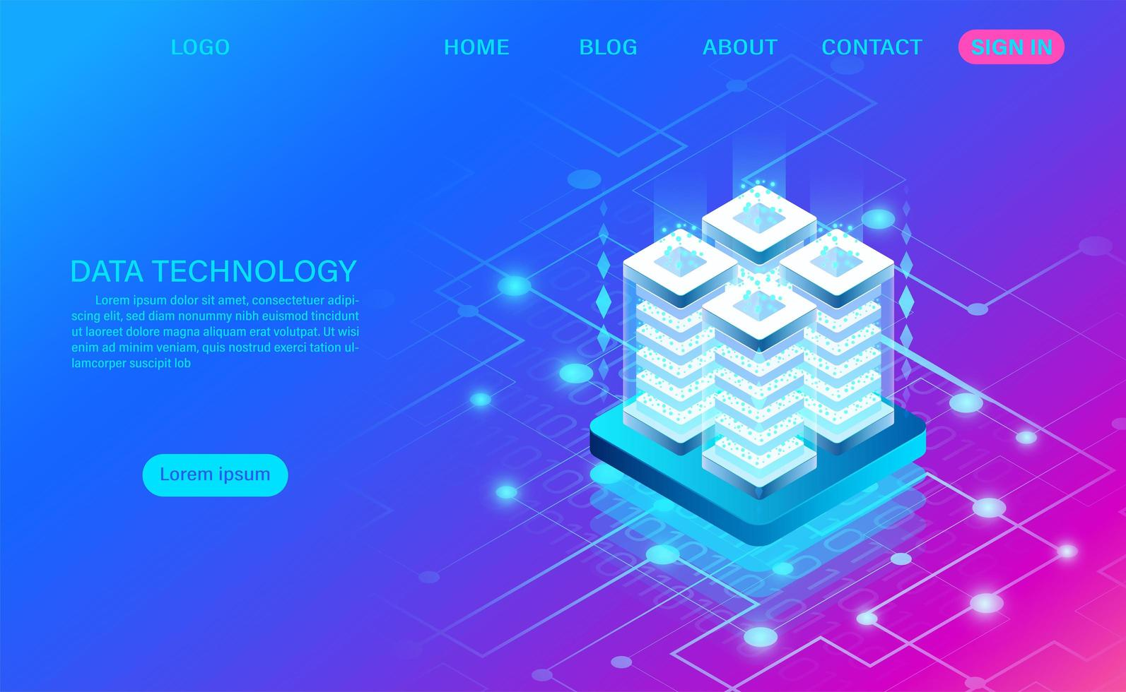 Data Technology Abstract Stack Concept vector