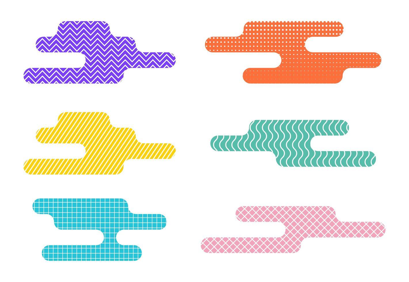 Set of abstract liquid design elements vector