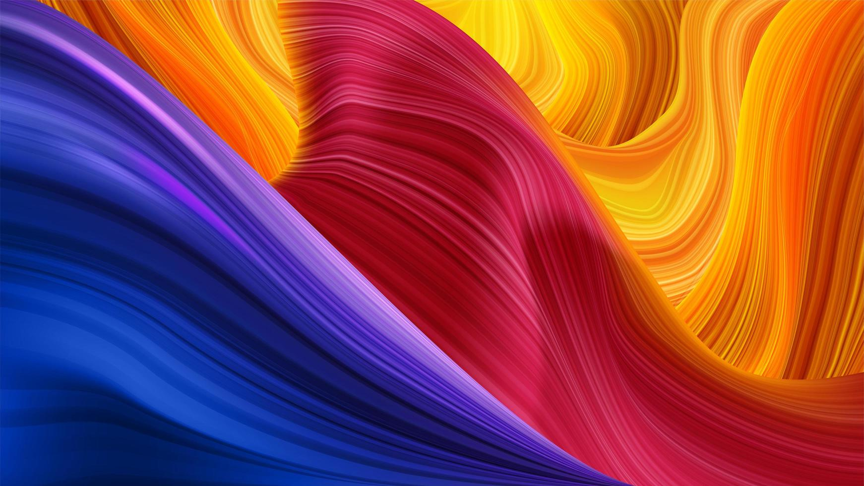 Abstract Colorful Fluid Twisting Pattern vector