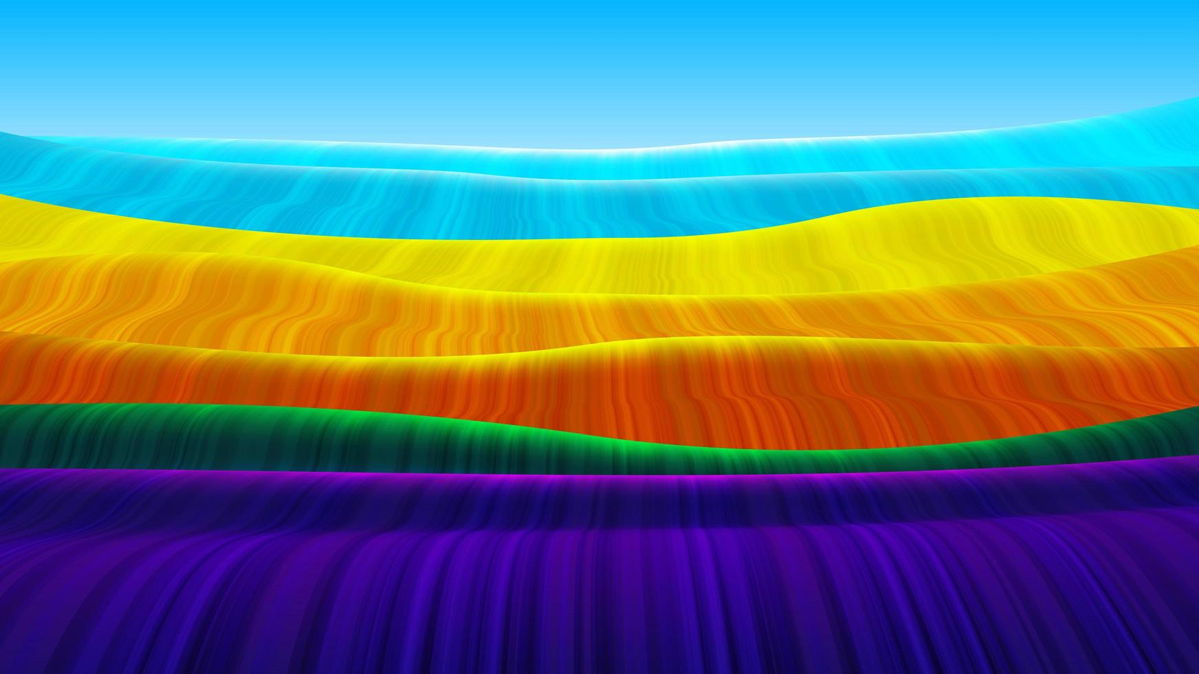 Abstract Rainbow Flowing Wave Pattern vector