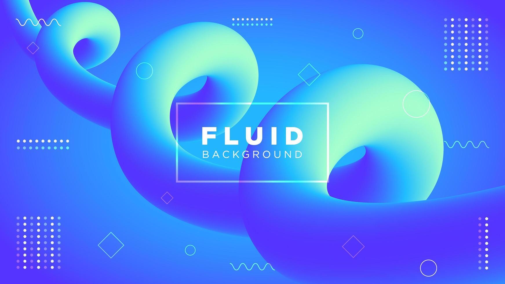 Blue Modern Spiral Motion Fuid Gradient Design vector