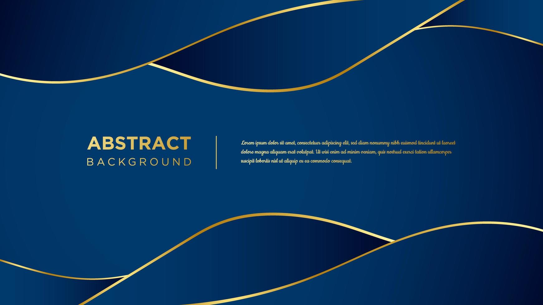 Blue and Gold Wavy Design vector