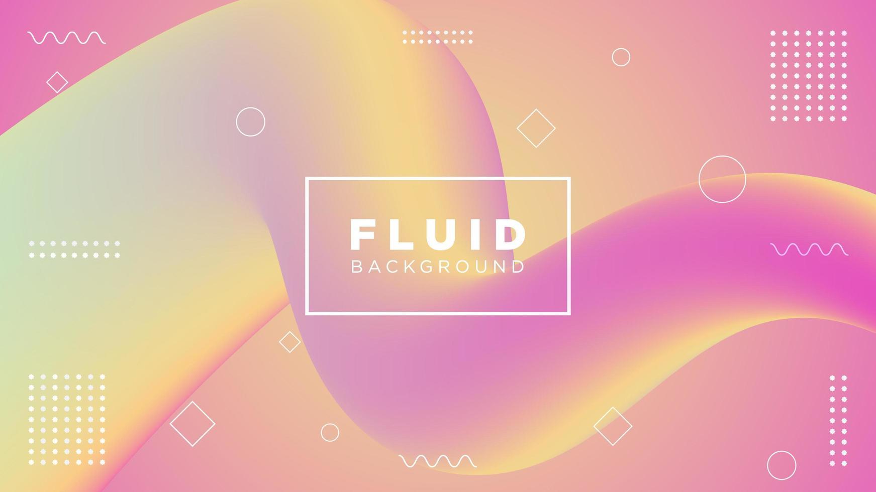 diseño de movimiento fluido degradado rosa y amarillo vector