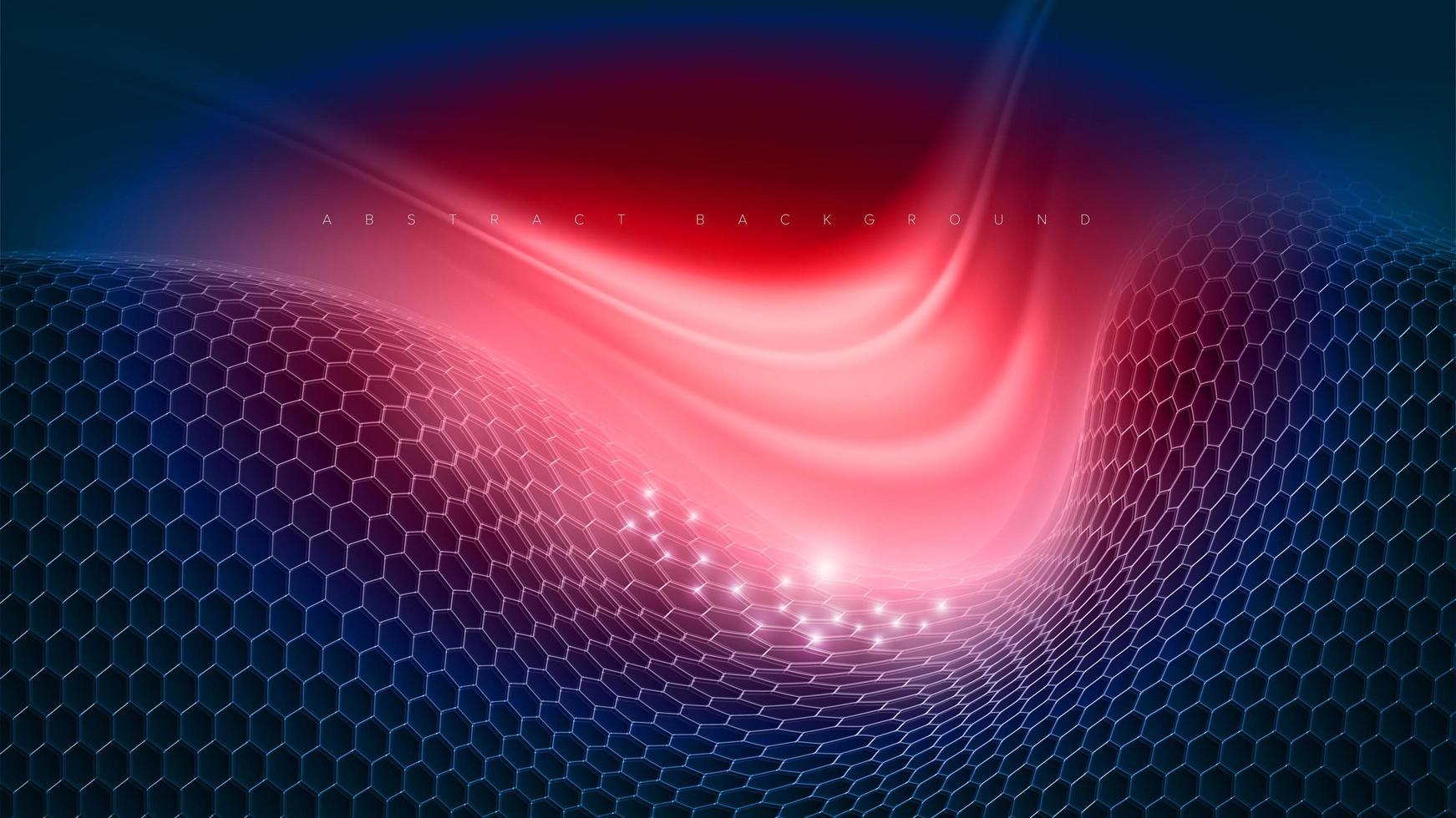 Abstract Glowing Futuristic Hexagon Design vector