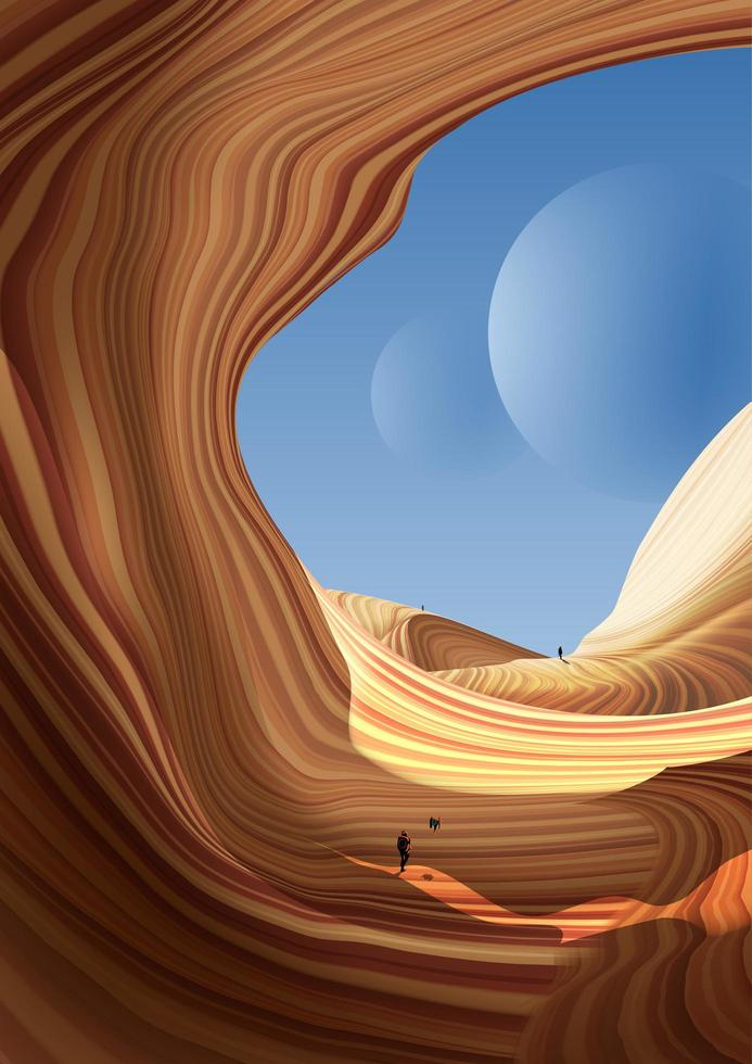 Curve in Antelope Canyon Scene vector