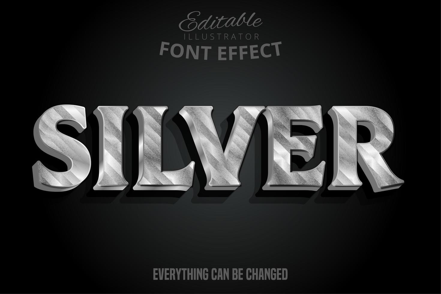 effetto testo argento marmorizzato metallizzato vettore