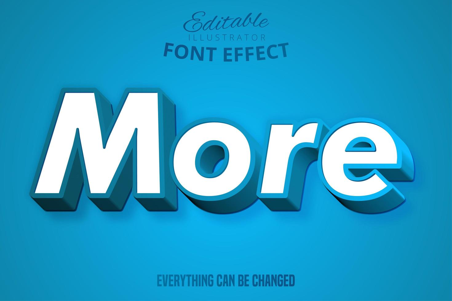 More Blue Vintage Typography Design vector