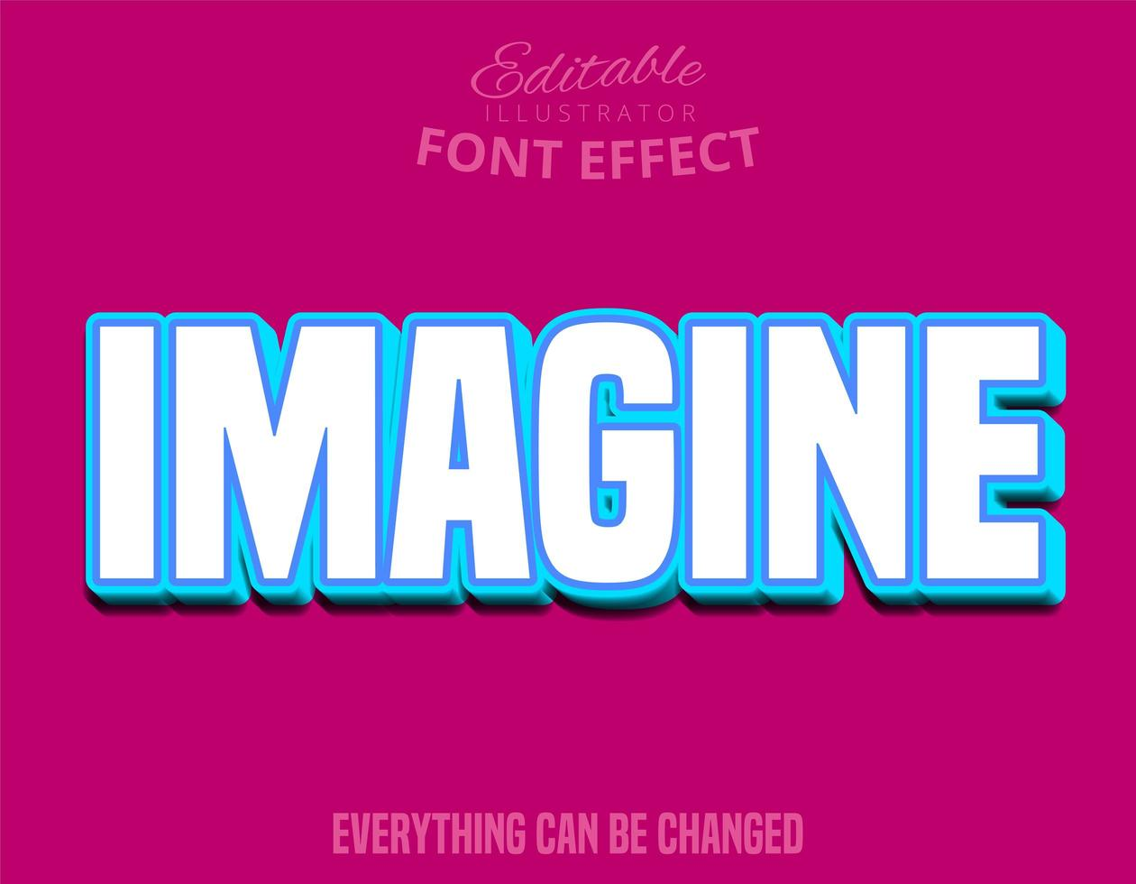 Imagine Text, Editable Font vector