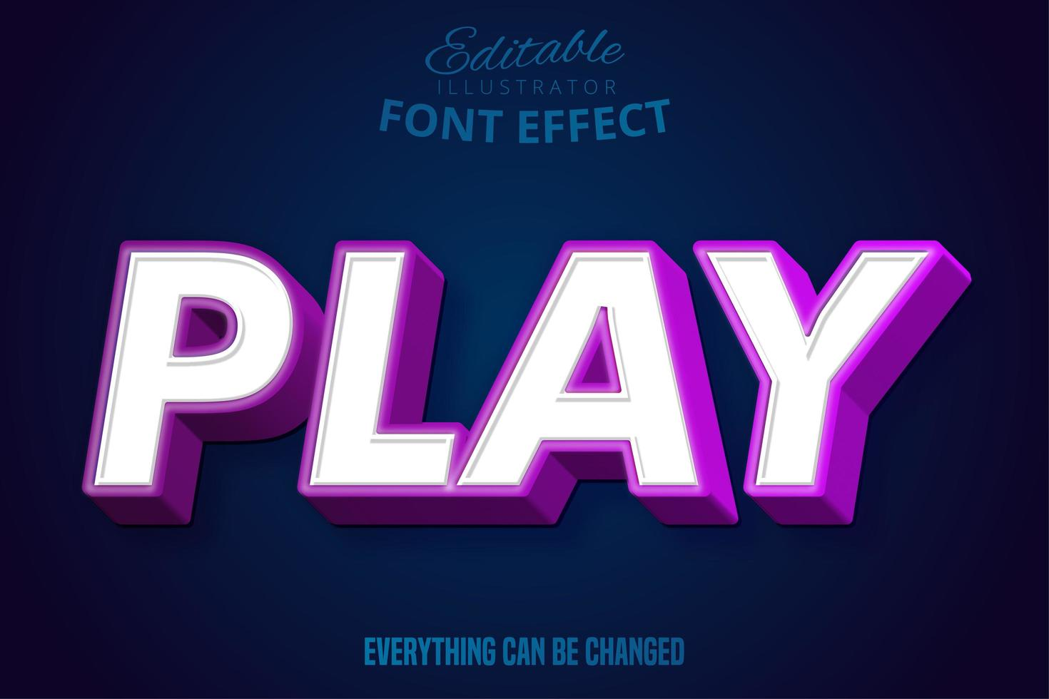 Play Text Editable Font vector