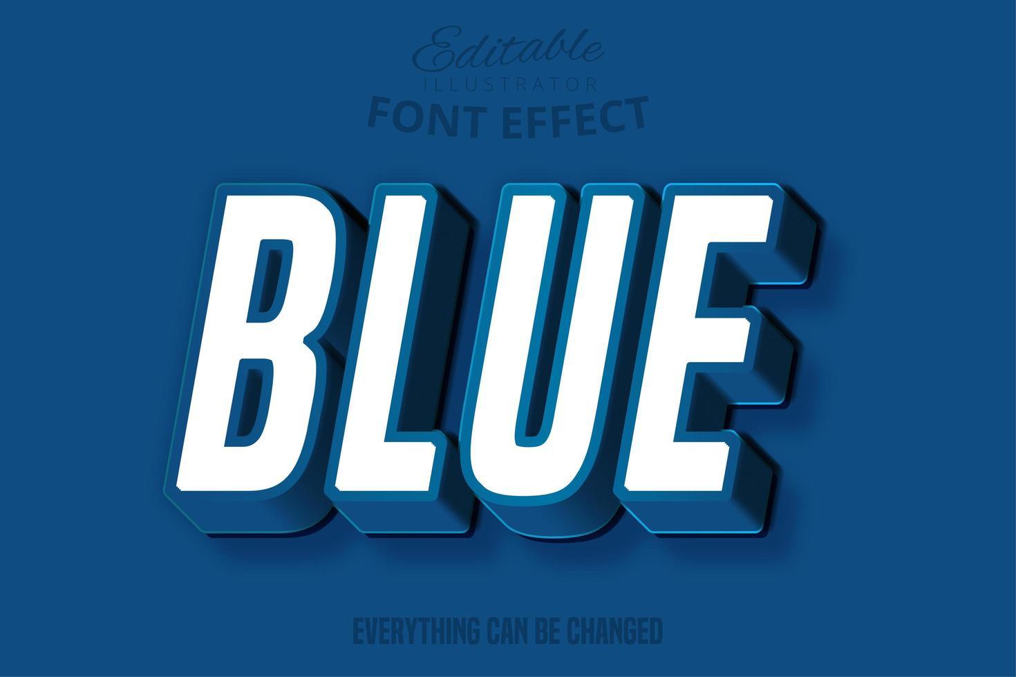 fuente clásica azul cursiva vector