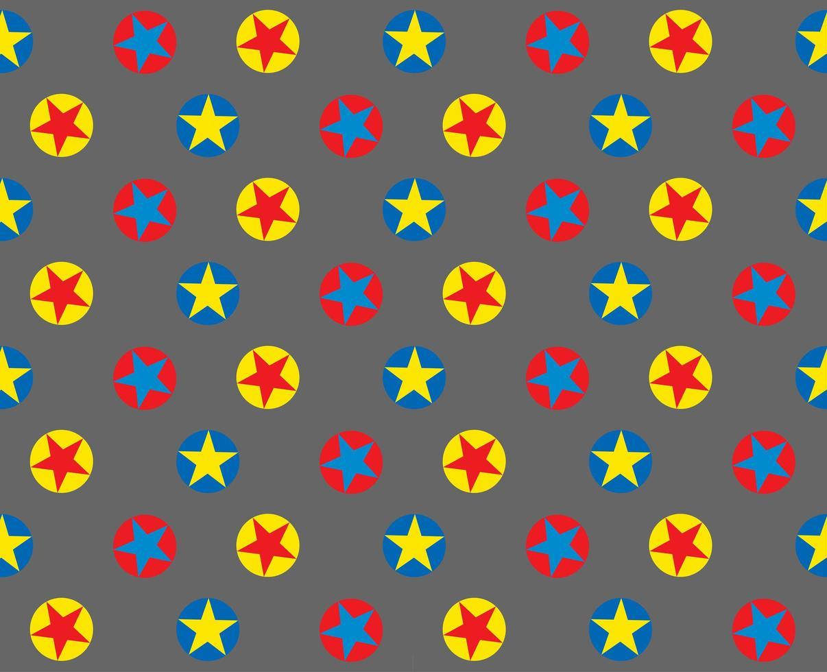 Bright circle star pattern on grey vector