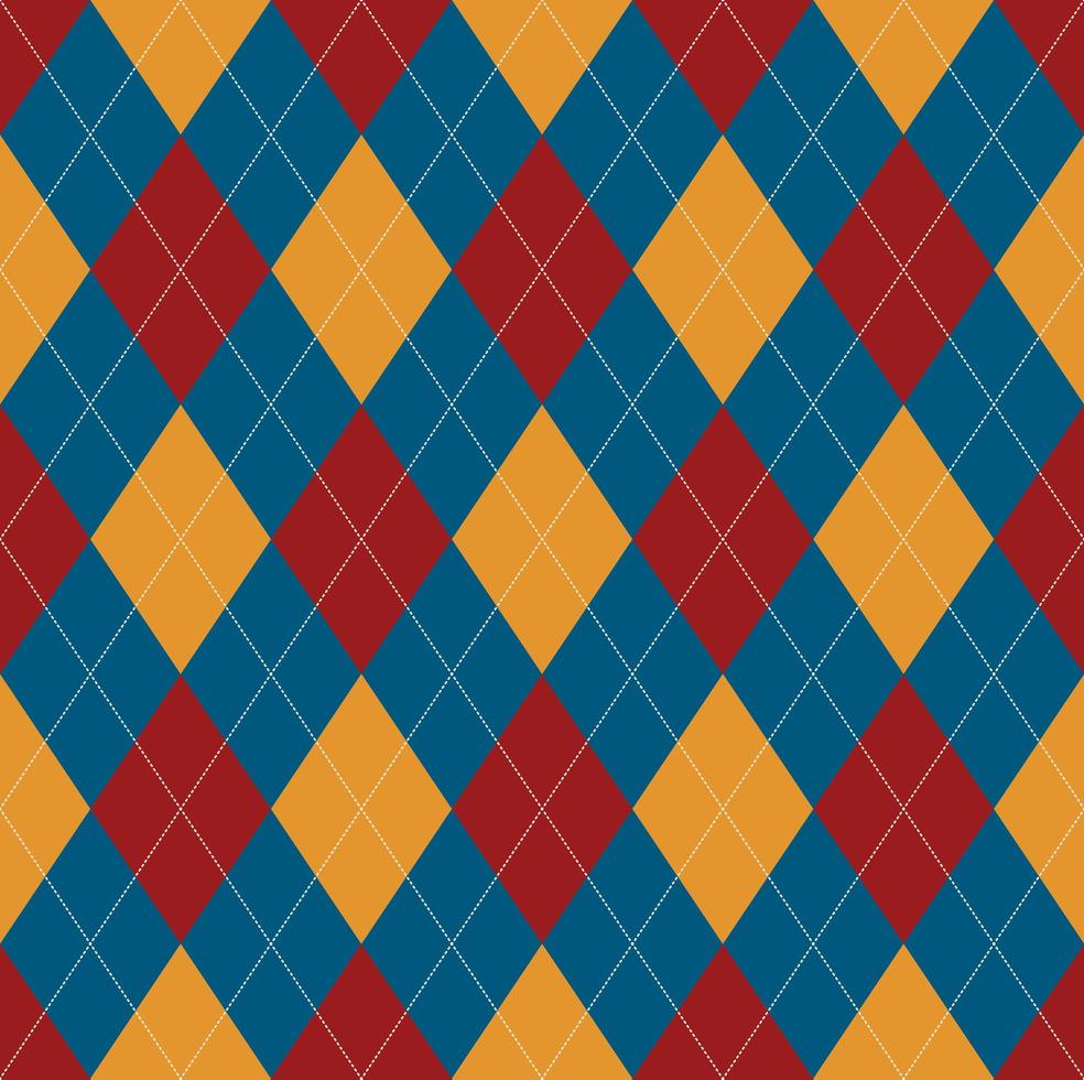 Seamless blue red argyle pattern vector