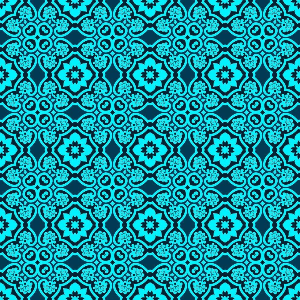 Turquoise and Dark Blue Geometric Pattern vector