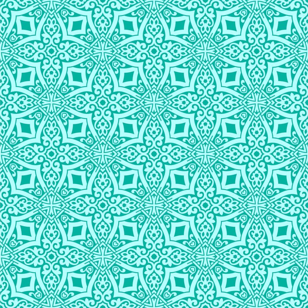 Aqua with Teal Details Geometric Pattern vector