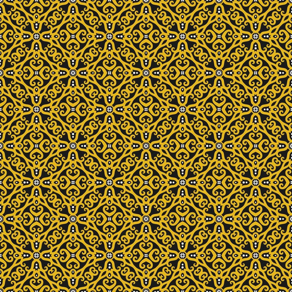 Yellow, Black, and White Geometric Pattern vector