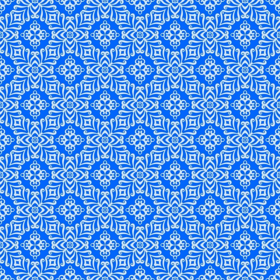 Blue with Light Blue Details Geometric Pattern vector