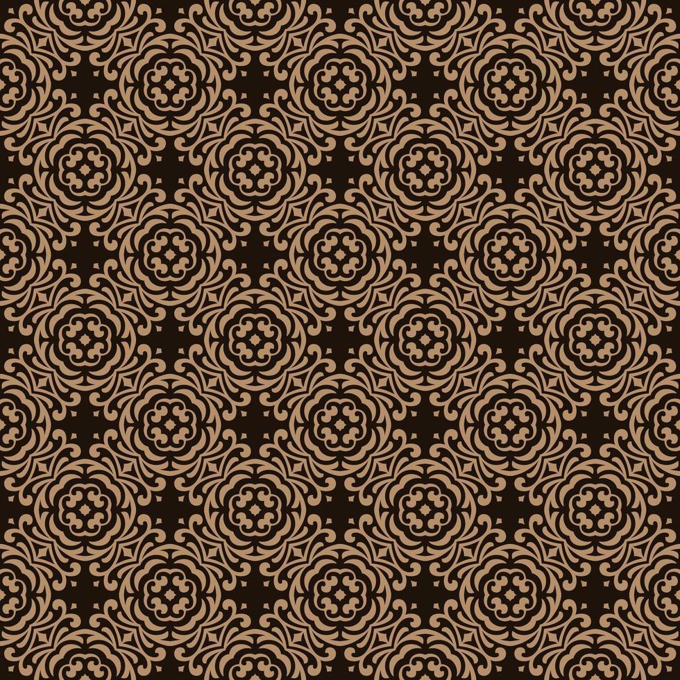 Dark Brown with Tan Details Geometric Pattern vector