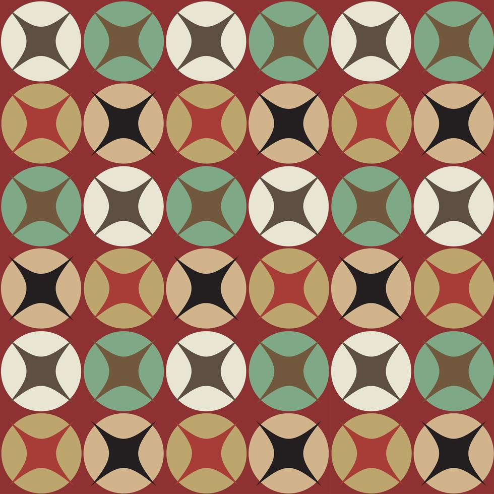 Seamless retro circular pattern vector
