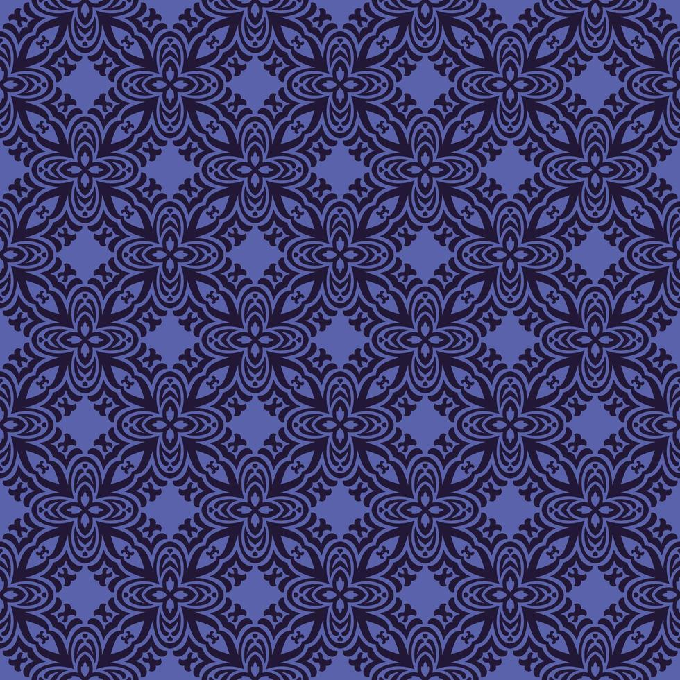 Purple with Navy Details Geometric Pattern vector