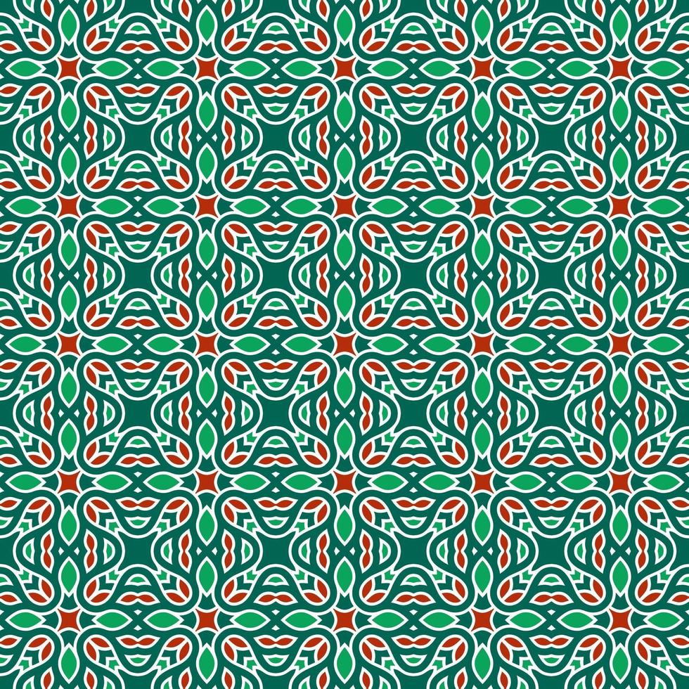 Green and Red Geometric Pattern vector