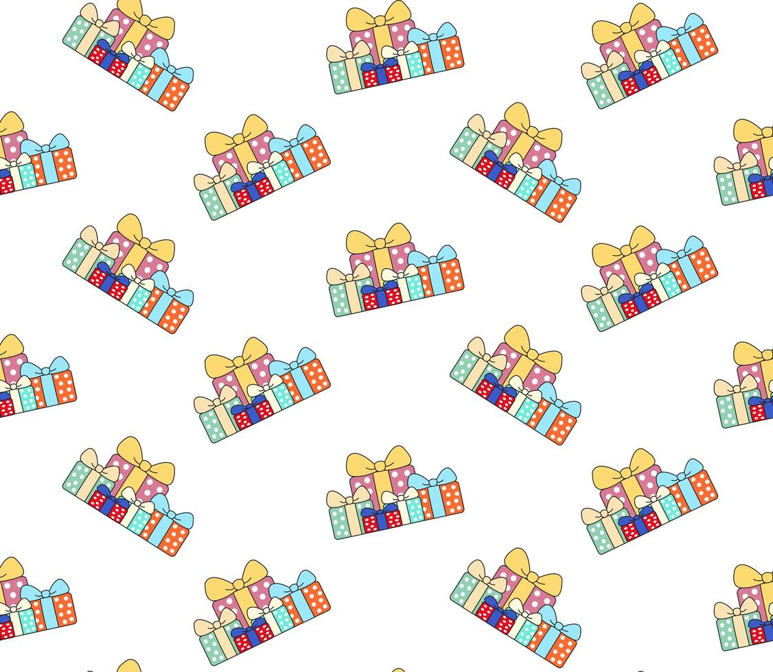 Pile of Gift Boxes Pattern vector