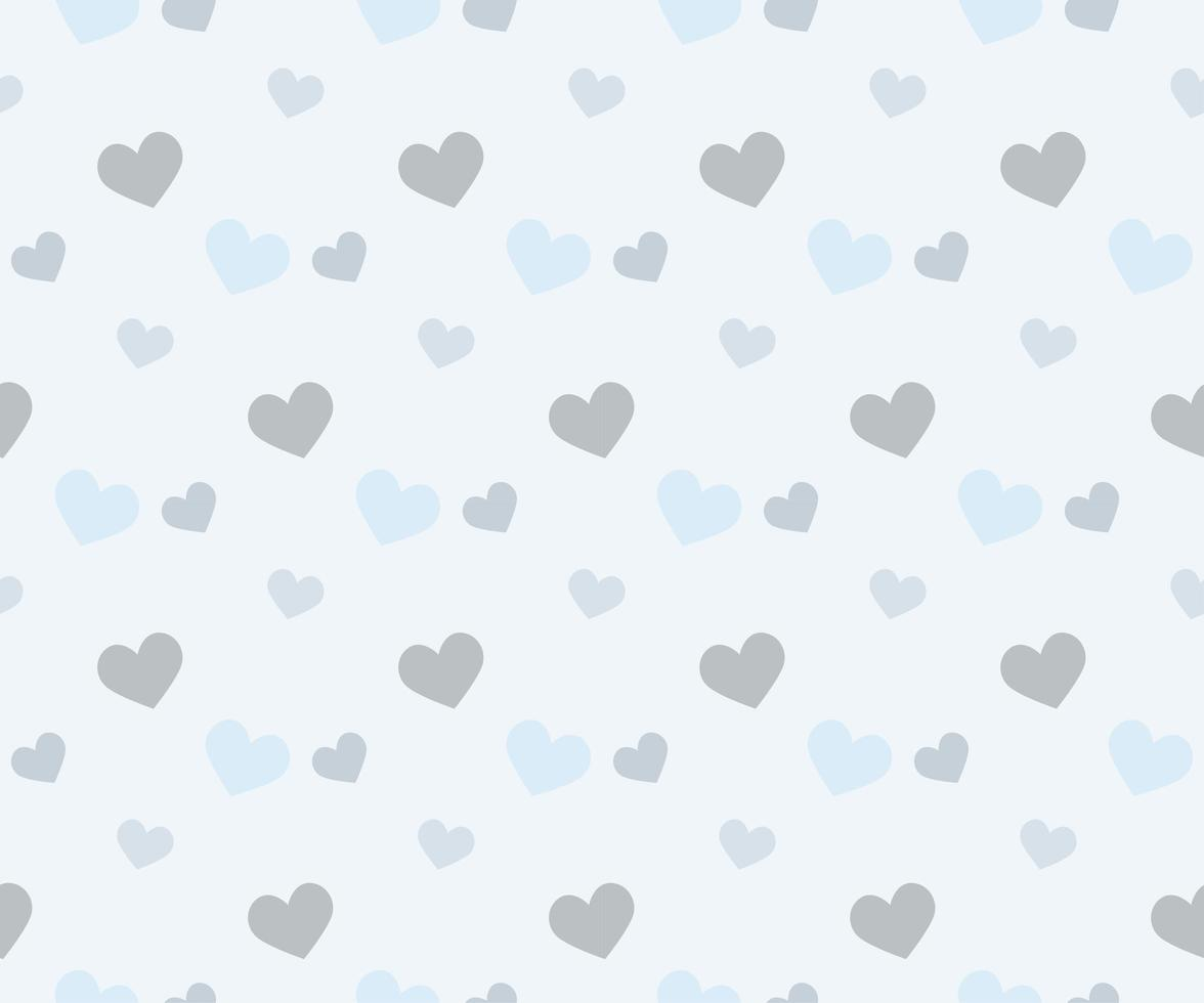 Light Blue Hearts on Blue Background vector