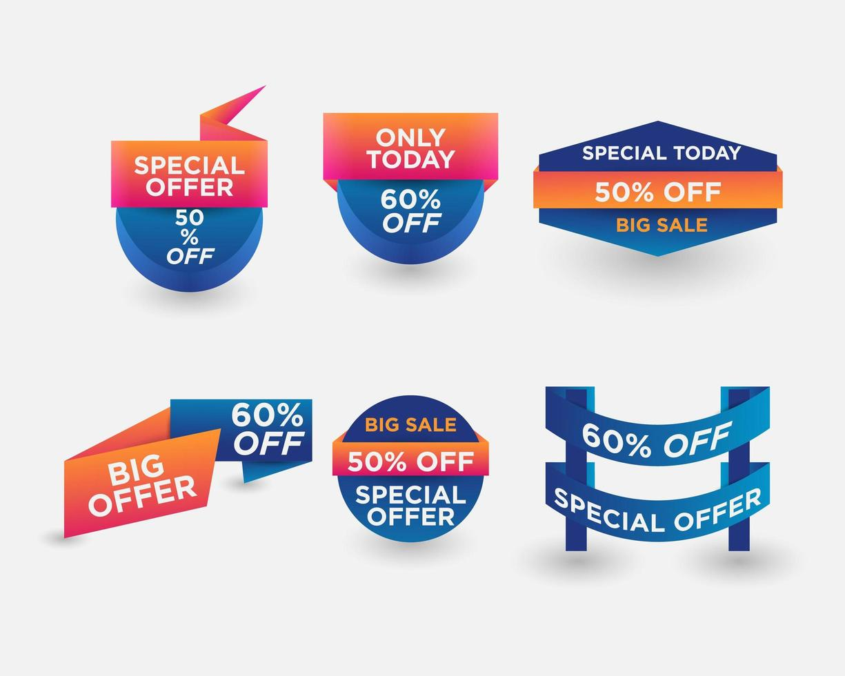 Special Offer Banners Set vector