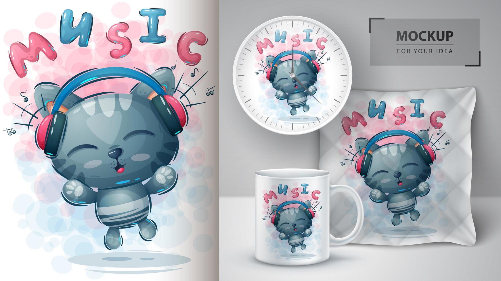 póster de música y merchandising vector