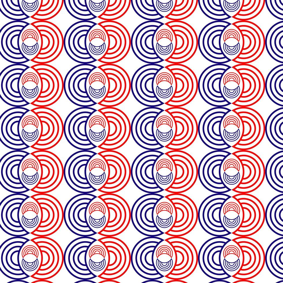 Red and Blue Circle Pattern vector