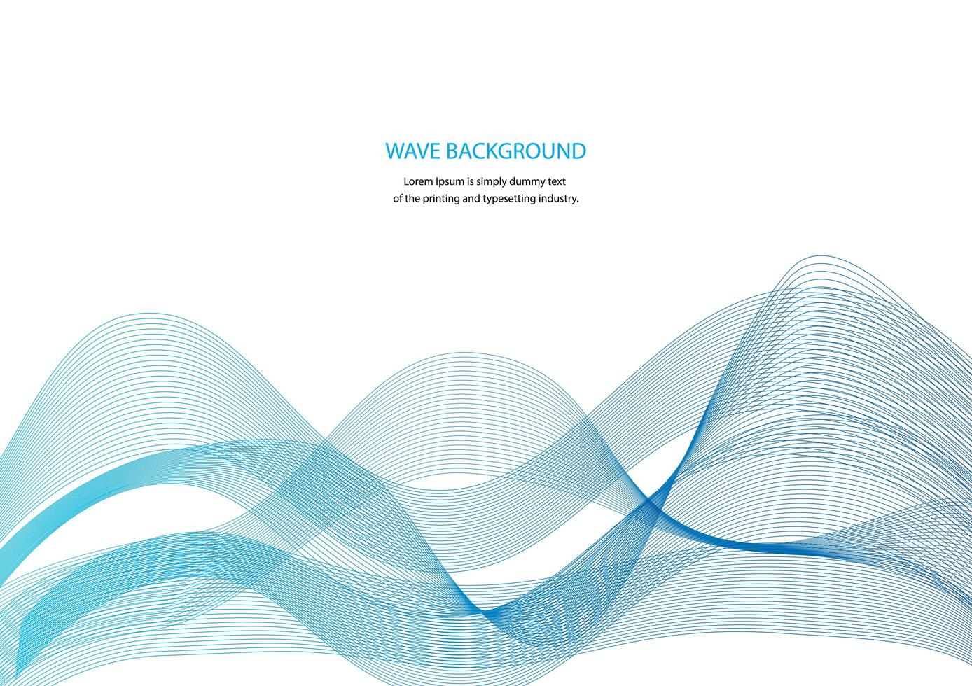 Advertisement Banner with Blue Wavy Shapes vector