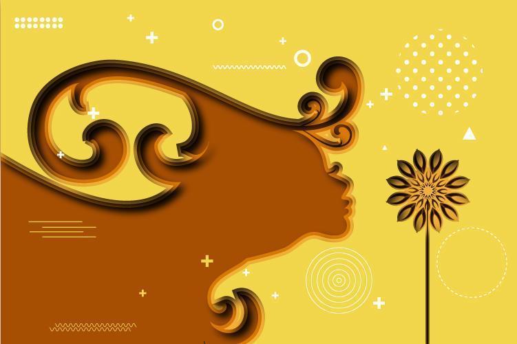 Paper Cut Design Background vector