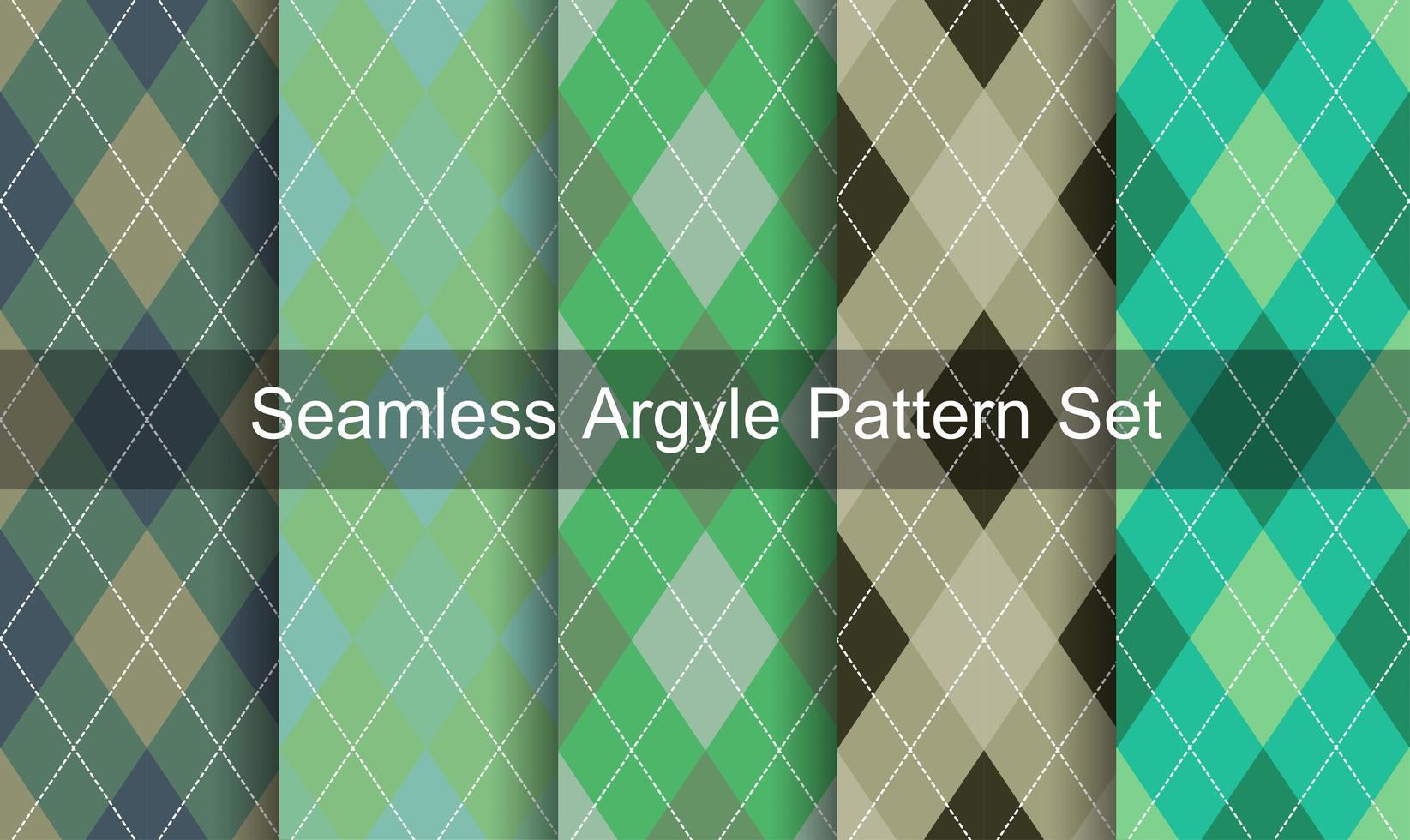 Seamless Diamond Pattern Set vector