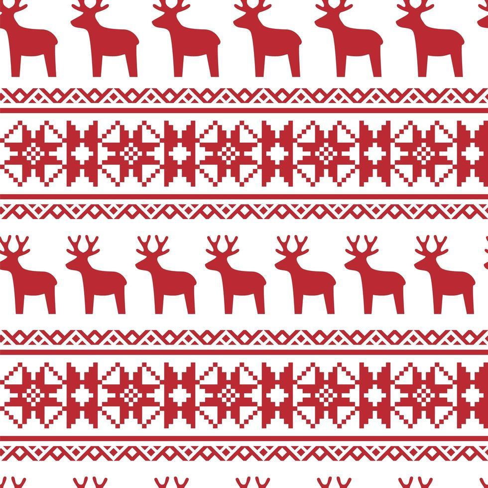 sin patrón nórdico de navidad. vector