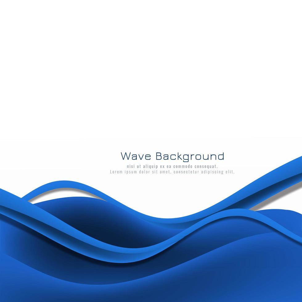 tarjeta de marco inferior de onda azul elegante abstracto vector