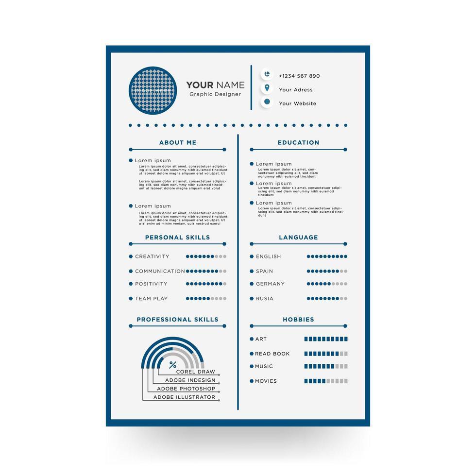 Designed Resume Template  vector
