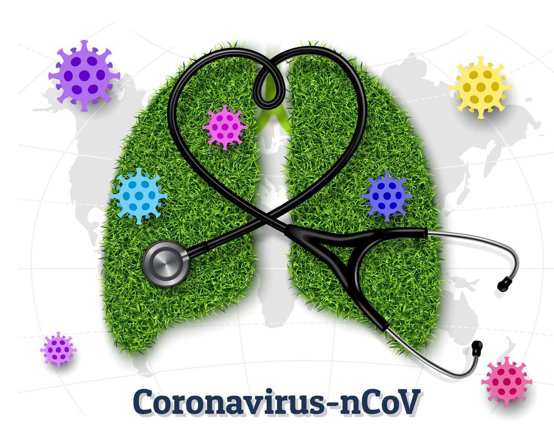 concept de poumon de maladie de coronavirus vecteur